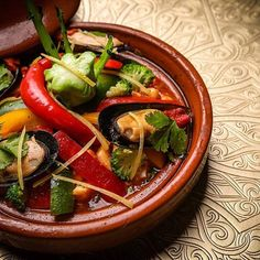 Moroccan cuisine is influenced by Morocco's interactions and exchanges with other cultures and nations over the centuries #maroc #morocco #marrakech #food #visitmorocco #remparts #tradition #tajine #food #medina #voyage #discovery #visitmarrakech #texture #colors #couleurs
