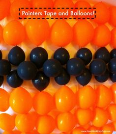 Make professional looking balloon wall using painters tape! Bday Girl, Baby Birthday, Birthday Parties, Thing 1 Thing 2 Party, Mindcraft Party, Halloween Balloons, Naming Ceremony, Balloon Wall, Throw A Party