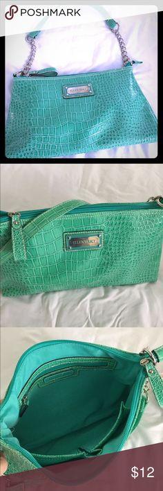 Turquoise Green shoulder bag by Ellen Tracy This is a small shoulder bag made by Ellen Tracy. It is a turquoise green color, excellent condition. Ellen Tracy Bags Shoulder Bags