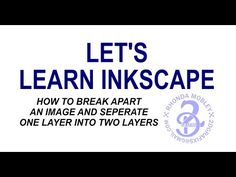 Learn how to break apart a more difficult logo and make one layer that has separate parts, two layers. Also how to delete parts that are not wanted in the im. Inkscape Tutorials, Cricut Tutorials, Svg Tutorial, Cricut Design Studio, Cricut Help, Cricut Cuttlebug, Silhouette Cameo Tutorials, Silhouette Curio, Brother Scan And Cut