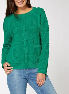 SKU: SS18 CABLE POCKET JUMPER:Green