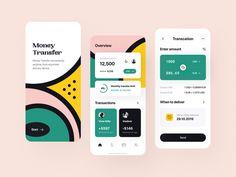 Warm money transfer app by Vadim Drut for heartbeat on Dribbble