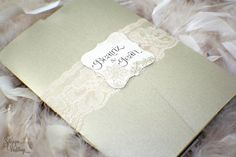 Beautiful Lace Wedding Invitations by SDezigns  For more insipiration visit us at https://facebook.com/theweddingcompanyni or http://www.theweddingcompany.ie