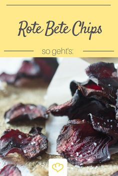 Eine gesunde Alternative zu Kartoffelchips aus der Tüte? Wie wäre es mit hauchzarten und knusprigen Rote Bete Chips? Lecker und gesund!