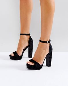 e8211a84135 Boohoo Barely There Block Heeled Platform Sandal at asos.com