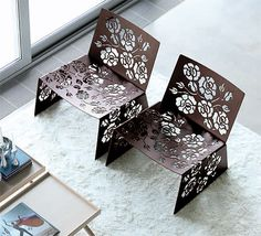Modern Feminine Furniture by Vibieffe - 'Roses' Chairs, Tables and Lamps
