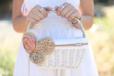 rustikales Körbchen für Blumenmädchen