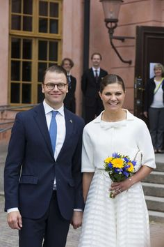 Crown Princess Victoria and Prince Daniel in Uppsala, today (06/06/2015).