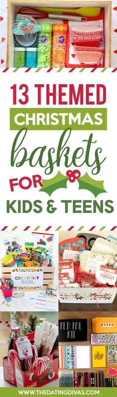 Themed Christmas Gift Baskets for Kids and Teens                                                                                                                                                                                 More