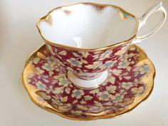 Charming Chintz Royal Albert Tea Cup and Saucer, English Bone China Cups, Tea Set, Chintz Teacups, Tea Cups and Saucers, Tea Sets, VogueTeam