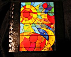SketchbookVintage Stained Glass Art 80 pgs by lovearthouse on Etsy, $10.00