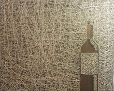 Cadena arte de botella de vino