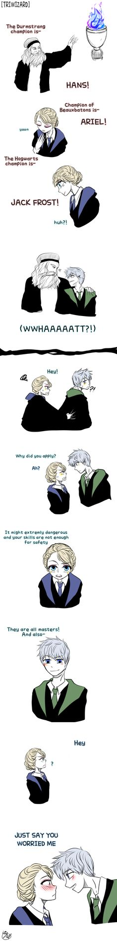 Rise of the Guardians' Jack Frost and Frozen's Elsa | J.K. Rowling's Harry Potter / Triwizard-Champion Selection by Lime-Hael on deviantART