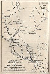 Map showing Mesopotamia and Ahwaz in Persia001 | by The Western Front Association
