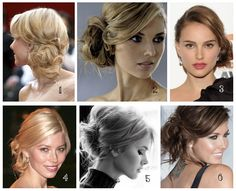 Love all of these. So you get the drift. Side swept, low updo. Body on the top and piecey and fun.