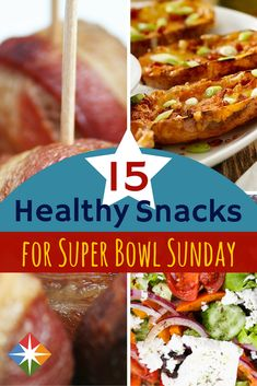 15 Healthy Snacks for Super Bowl Sunday via @SparkPeople