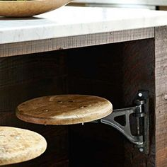 kitchen stools on hinges! Where can I get these please???