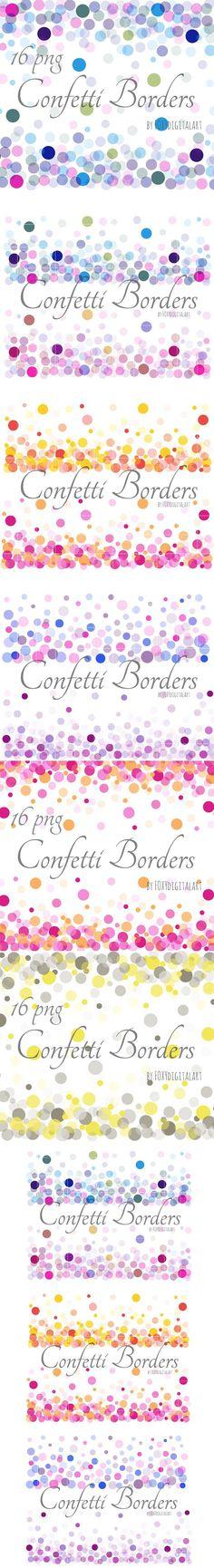 Confetti Borders Confetti Background. Patterns