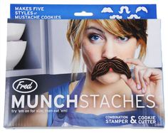 Mustache cookie cutters! also one of my easter presants