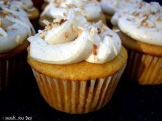 Pumpkin Chip CupCakes with Spiced Cream Cheese Frosting - I Wash You Dry