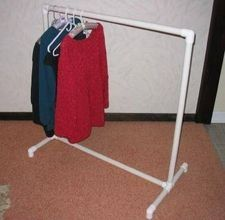 PVC Clothes Rack, temporary rack for my temporary walk in closet