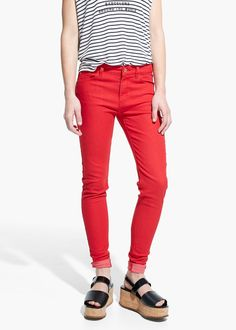 Skinny paty jeans -  Women   MANGO