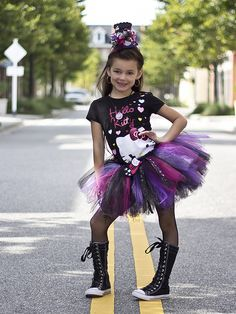 Hello Rockstar Tutu u0026 Top Hat by My Girlz Kreative Inspirations. This little girl really rocked this outfit!  sc 1 st  Pinterest : girl rockstar costumes  - Germanpascual.Com