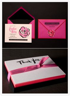 The Rose Invites and Thank You Cards, Ladyfingers Letterpress