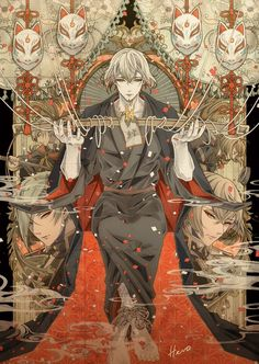 - - Please visit our website to support us! Manga Anime, Anime Guys, Anime Art, Touken Ranbu, Bishounen, Manga Drawing, Anime Comics, Beautiful Creatures, Illustration Art