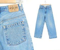 Vintage 90s Men's Super Wide Leg GAP Jeans Size 28 by SadieBessVintage - $34