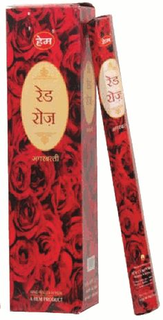 Red Rose Hex Box Incense