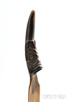 Northwest Coast Horn Spoon | Sale Number 2862B, Lot Number 239 | Skinner Auctioneers