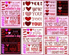 Valentine's Day free printables.