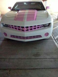 Pink Chevy Camaro ☆ Girly Cars for Female Drivers! Love Pink Cars ♥ It& the dream car for every girl ALL THINGS PINK chevy camaro pink Chevy Camaro, Pink Camaro, Pink Chevy, Chevy Girl, Chevelle Ss, Chevy Pickups, Maserati, Bugatti, Lamborghini