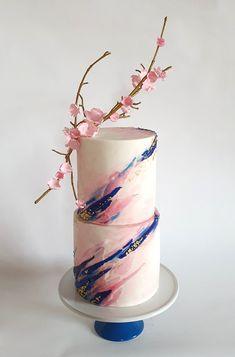 Gorgeous Cakes, Pretty Cakes, Cute Cakes, Amazing Cakes, Wedding Cakes With Cupcakes, Cupcake Cakes, Marine Wedding Cakes, Wafer Paper Cake, Pretty Birthday Cakes