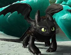 The animation is amazing! look at his wings! Dragons Edge, Httyd Dragons, Dreamworks Dragons, Cute Dragons, Dreamworks Animation, Httyd 2, Dragon 2, Toothless Dragon, Hiccup And Toothless