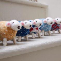My flock of sheep are very excited that #WoolWeek starts today. #campaignforwool #choosewool #wool #handmade #britishwool
