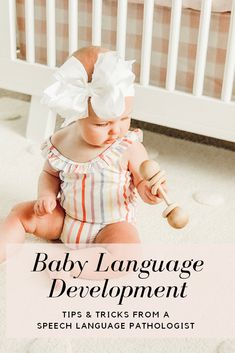 Language development during the first year of life is one of the greatest wonders of infancy and for many, parenthood. BUT as with many of the joys of parenthood, language development may come with a slew of questions and all the worries. Well mommas, don't you fret! As your resident Speech-Language Pathologist here on Momma Society, I am here to share some tips and activities to stimulate and support language development for your littles. | Momma Society #languagedevelopment #babiestalk Baby Development In Womb, Baby Development Chart, Baby Development Milestones, Language Development, Baby Milestones, Baby Language, Speech And Language, Baby Learning Toys, 5 Month Old Baby