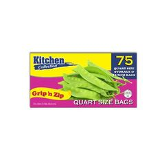 7 x 8 Inch Grip and Zip Quart Size Storage/Lunch Bags/Case of 1800