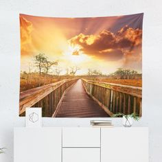 Searching for a Sunrise Over Beach Pathway Tapestry? Shop for high quality Wall Tapestries designed by independent artists on W. Cool Tapestries, Tapestry Design, Pathways, A Team, Vivid Colors, Sunrise, Just For You, This Or That Questions, Beach