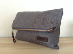 Fold over zipper clutch by orshie on Etsy, Messenger Bag, Satchel, Trending Outfits, Zipper, Unique Jewelry, Handmade Gifts, Bags, Etsy, Vintage