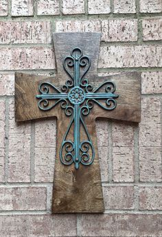 Items similar to Large Wood Cross, Red Wood Cross, Antiqued Red Wall Wood Cross on Etsy Wooden Crosses, Crosses Decor, Wall Crosses, Metal Art, Wood Art, Burlap Cross, Old Rugged Cross, Cross Art, Cross Crafts