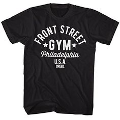 Rocky 1970s Sports Boxing Champion Front Street Gym Movie Stallone Adult T-shirt