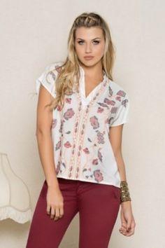 Blusa Floral Tops, Women, Fashion, Dress Shops, Moda, Women's, La Mode, Fasion, Fashion Models