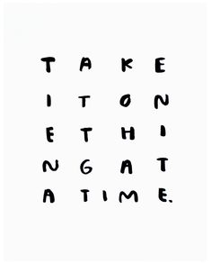 One Thing At A Time, Print – Gather Goods Co.