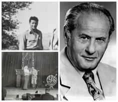 Eli Wallach-Army-staff Sergeant in a military Lt.- in Casablanca and later France-also put on shows for servicemen, shown playing Hitler in a play (Actor) Hollywood Actor, Hollywood Stars, Old Hollywood, Famous Men, Famous Faces, Famous People, American Soldiers, American Actors, Military Veterans