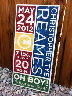 12x24 hand painted kids sign by WrightAwayDesigns on Etsy
