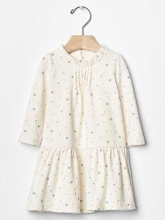 63d5f4e1fe0 babyGap - Organic printed ruffle-neck dress Baby Girl Dresses