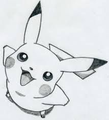 Image de drawing, pikachu, and pokemon Tumblr Drawings, Funny Drawings, Art Drawings Sketches, Cartoon Drawings, Easy Drawings, Animal Drawings, Cartoons To Draw, Simple Pencil Drawings, Easy Sketches