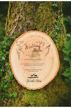 This woodland wedding menu wood stationery ties in the theme flawlessly (and naturally!). Photographer: Paula O'Hara Photography / Location: Teapot Lane (Sligo, Ireland) / Stationery: Paper Bark / Styling (tablescapes, props, florals): Alise Taggart / Floral Design: Floral Earth / Hair: Kathy Fitzsimmons / Makeup: Claire McEvoy /Model: Jen Milligan from Style Academy / Production: Ireland's Wedding Journal